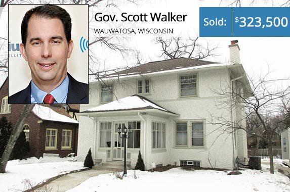 Gov. Scott Walker | Cindy Ord/Getty Images; House: Redfin