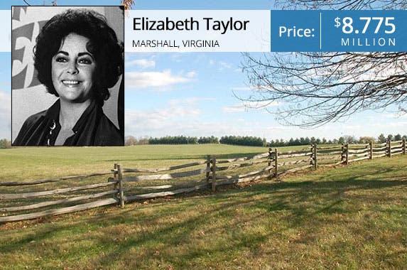 Elizabeth Taylor: © Bettman/CORBIS; House: Realtor.com