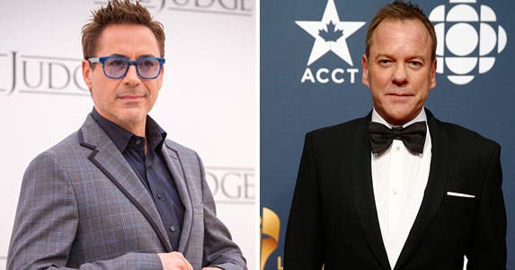 Robert Downey Jr.: © Luca Carlino/Demotix/Corbis; Kiefer Sutherland: MARK BLINCH/Reuters/Corbis