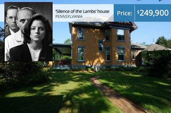 'Silence of the Lambs': Michael Ochs Archives/Moviepx/Getty Images; House: Realtor.com