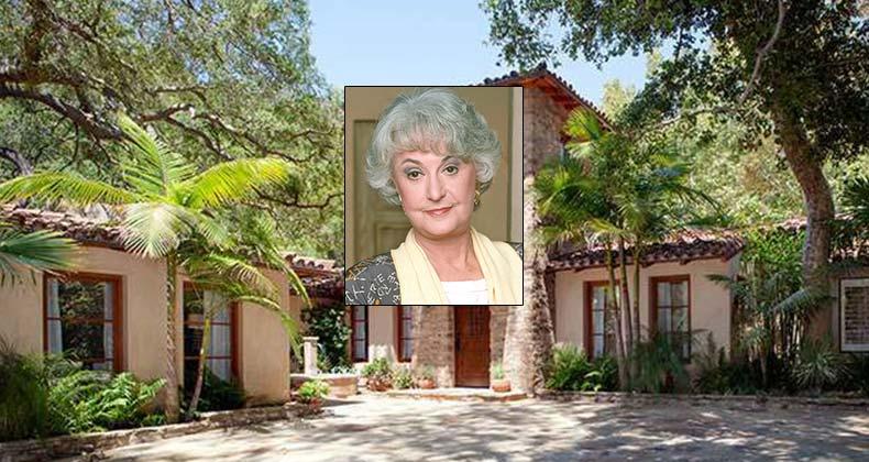 Celebrity House Sold Bea Arthur Of The Golden Girls