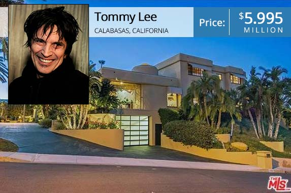 Tommy Lee | Kevin Winter/Getty Images; House: Realtor.com
