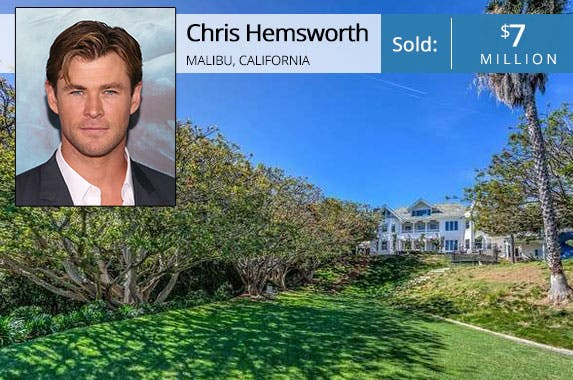 Chris Hemsworth | Taylor Hill/FilmMagic/Getty Images; House: Redfin