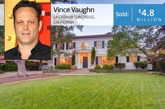 Vince Vaughn | Jason LaVeris/FilmMagic/Getty Images; House: Redfin