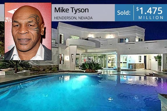 Mike Tyson | Tommaso Boddi/Getty Images; House: Realtor.com