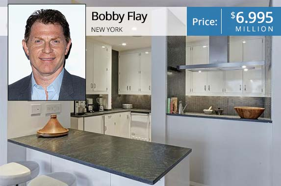 Bobby Flay | Jim Spellman/Getty; House: Realtor.com
