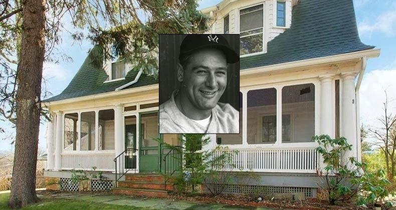 Celebrity House For Sale Yankee Legend Lou Gehrig