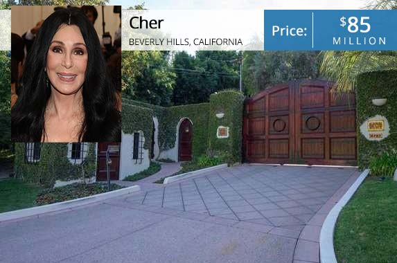 Cher | Dimitrios Kambouris/Getty Images; House: Realtor.com