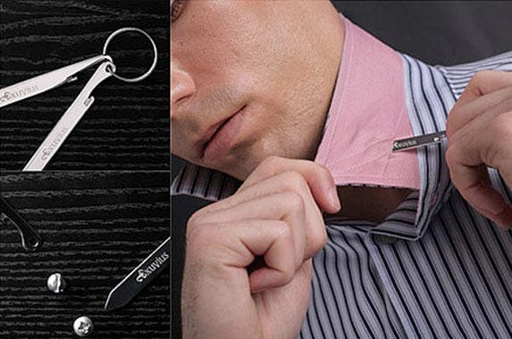 A multi-purpose collar stay   Courtesy of Uncommon Goods