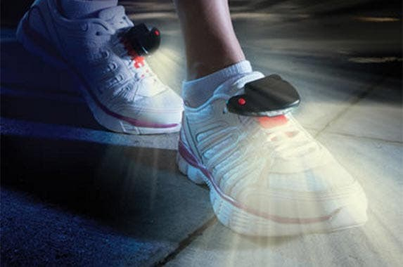 The nocturnal jogger's foot lights | Courtesy of Hammacher Schlemmer