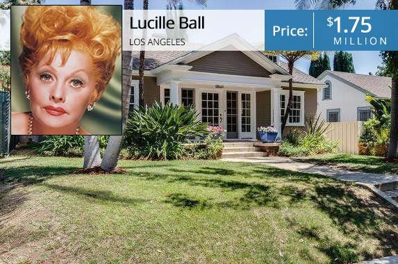Lucille Ball's starter home lists for $1.75M | Lucille Ball: Silver Screen Collection /Getty Images; House: Redfin