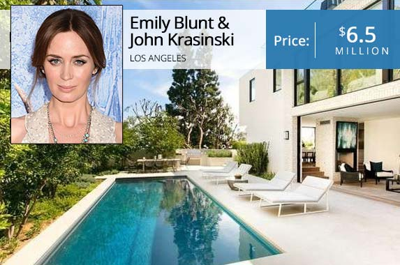 Star couple sells Hollywood home to Kendall Jenner | Emily Blunt: Jeffrey Mayer/Getty Images; House: Redfin
