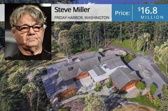 Steve Miller | Nicholas Hunt/Getty; House: Realtor.com