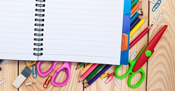 Back-to-school supplies © almaje/Shutterstock.com