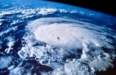 Satellite shot of hurricane