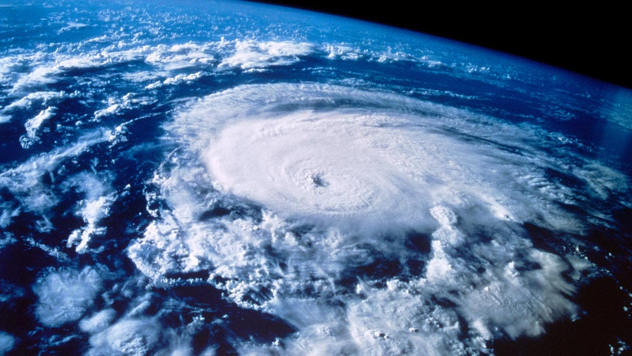 Satellite shot of hurricane