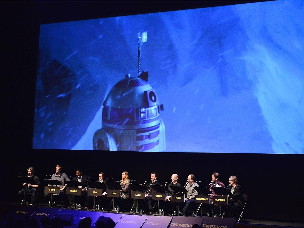 """The Empire Strikes Back"" panel at a conference"