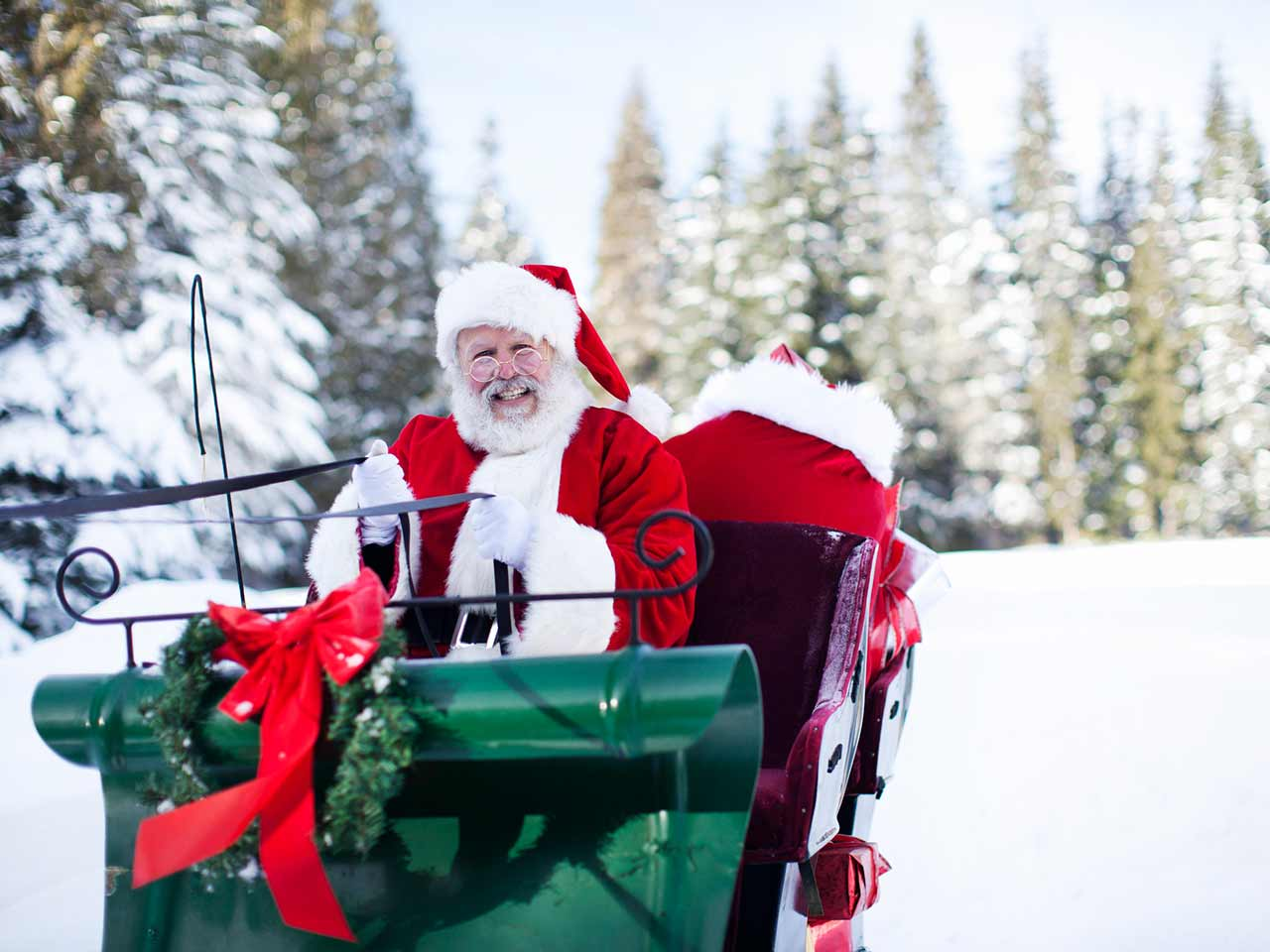 Santa on his sleigh | quavondo/E+/Getty Images