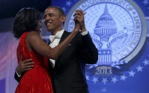 Barack and Michelle Obama dancing at his inauguration | Alex Wong/Getty Images