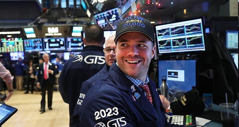 Dow hits 20,000 |  Spencer Platt/Getty Images