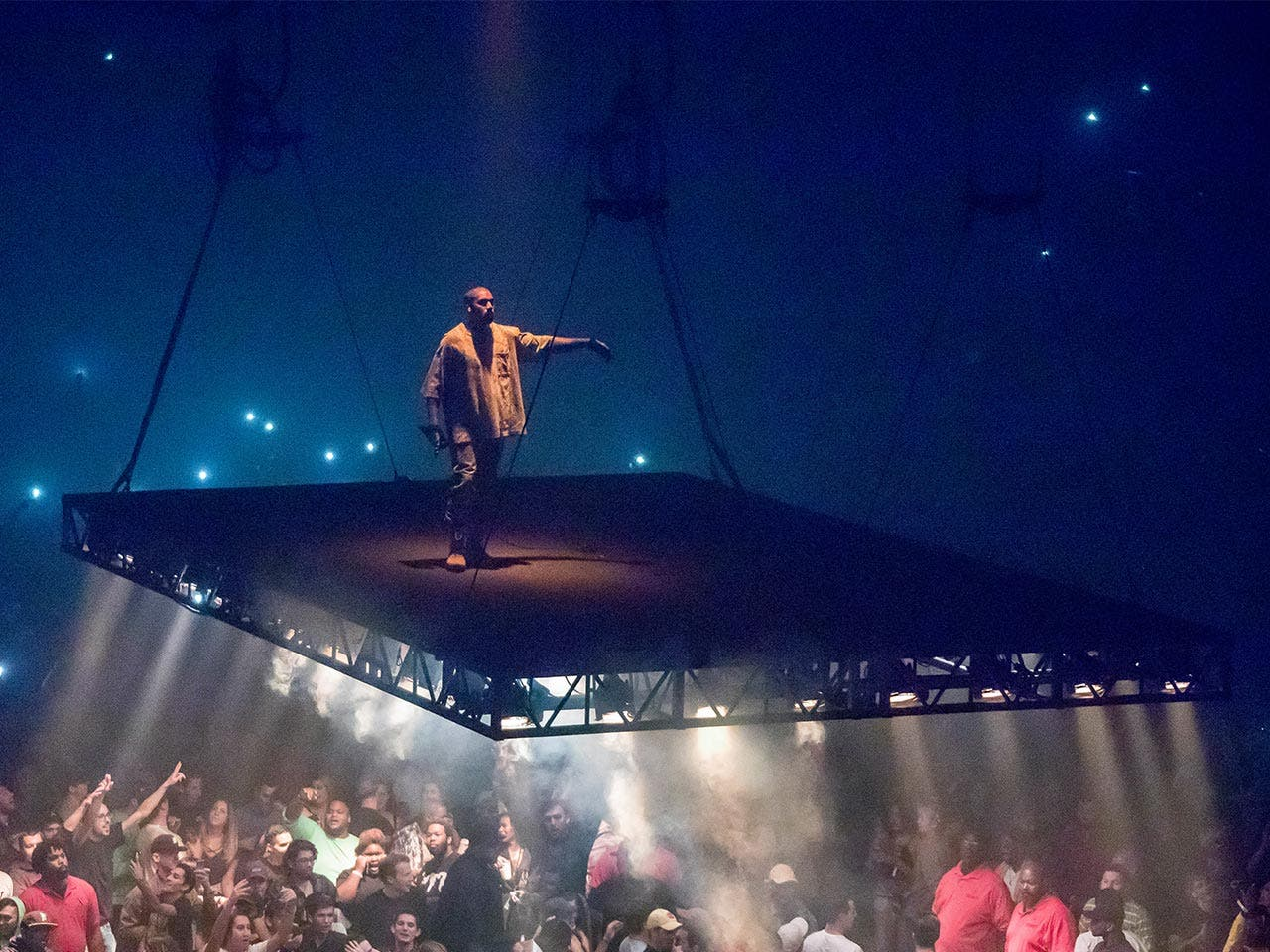 Kanye on stage | Scott Legato/Getty Images