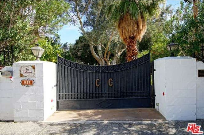 Cary Grant's house: Gate   Redfin