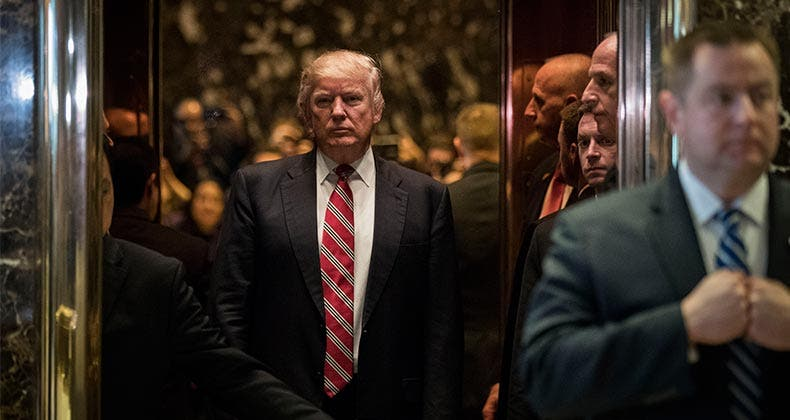 President Donald Trump at Trump Tower