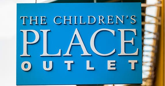 The Children's Place outlet sign
