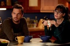 Media photo of 'New Girl' Zoey Deschanel and Jake Johnson
