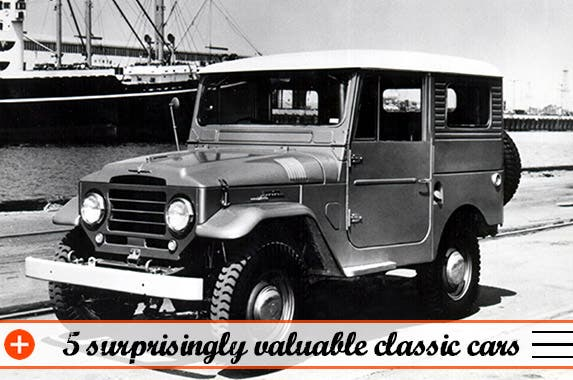 5 surprisingly valuable classic cars © Photo courtesy of Hagerty Insurance
