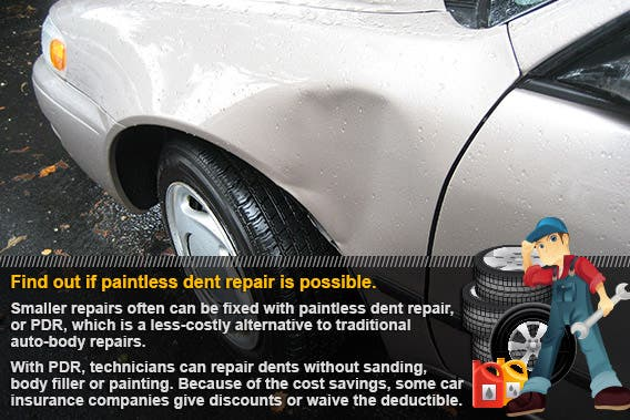 Find out if paintless-dent repair is possible | © idesygn/Shutterstock.com