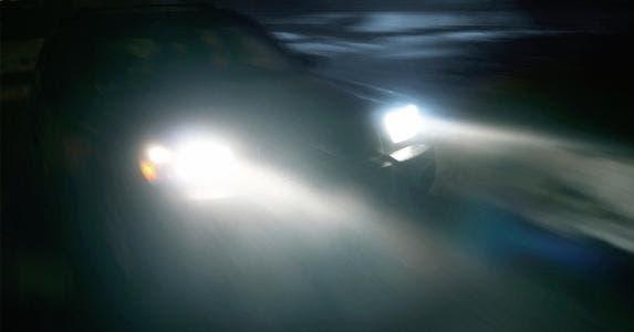 Car Crash Beam Of Light