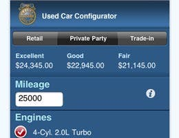 Used car configurator