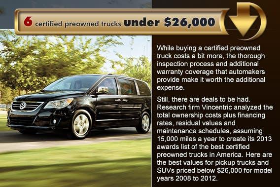 6 certified preowned trucks under 26 000. Black Bedroom Furniture Sets. Home Design Ideas