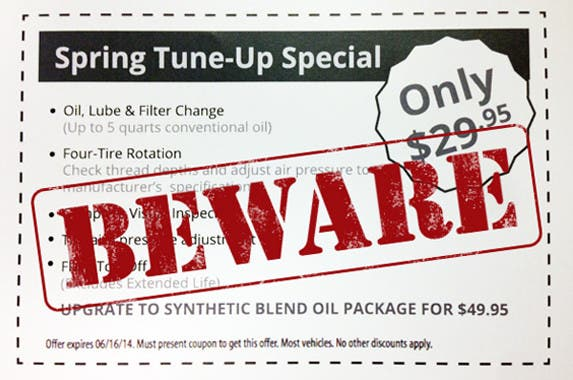 Tune-up special ad