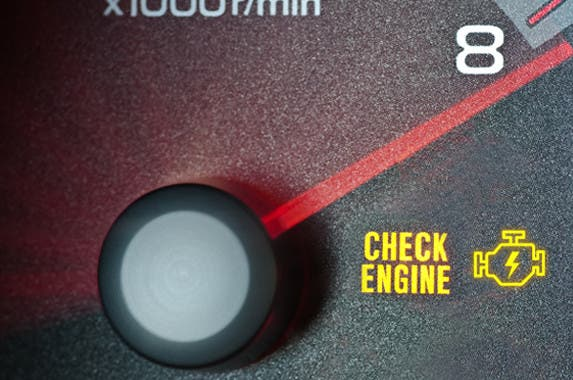 Dashboard check engine light