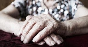 Closeup of elderly woman's hands © iStock