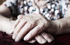 Closeup of elderly woman's hands © iStock