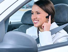 Hands-free cellphone use: Moderate risk © Sergey Peterman/Shutterstock.com