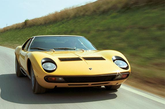 4 iconic Italian cars at the Los Angeles Auto Show © Lamborghini