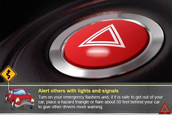 Alert others with lights and signals | © Olivier Le Moal/Shutterstock.com