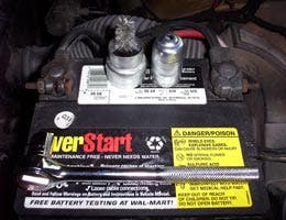 Check battery terminals and lights