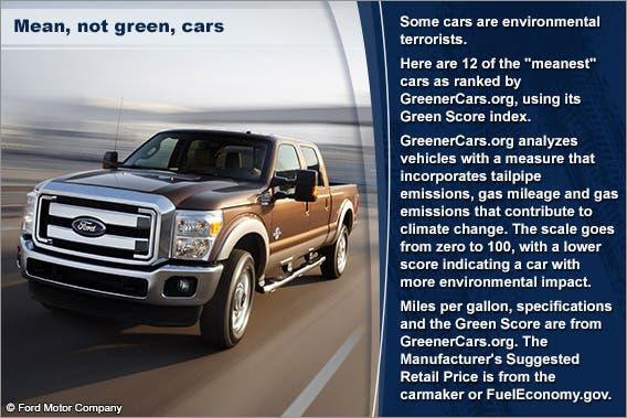 Mean, not green, cars © Ford Motor Company