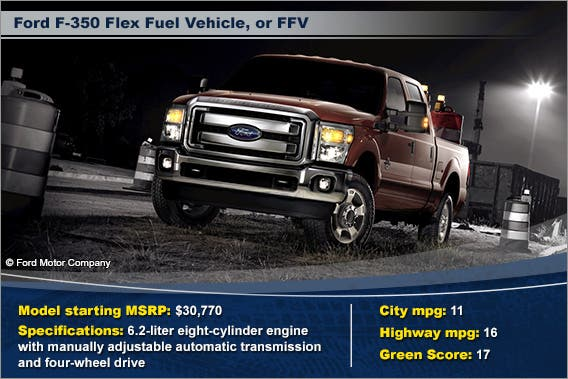 Ford F-350 Flex Fuel Vehicle, or FFV