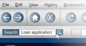 Internet browser loan application in search bar © Fotolia.com