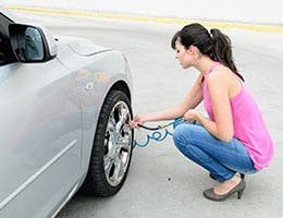 Check your tire pressure © Dirima/Shutterstock.com