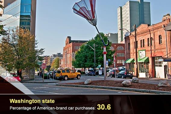 Car overlay: © donvictorio/Shutterstock.com, Washington state: © joyfuldesigns/Shutterstock.com