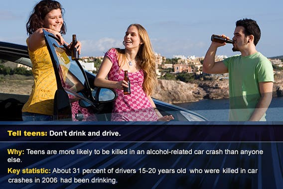 Don't drink and drive © MANDY GODBEHEAR/Shutterstock.com, overlay: © SP-Photo/Shutterstock.com