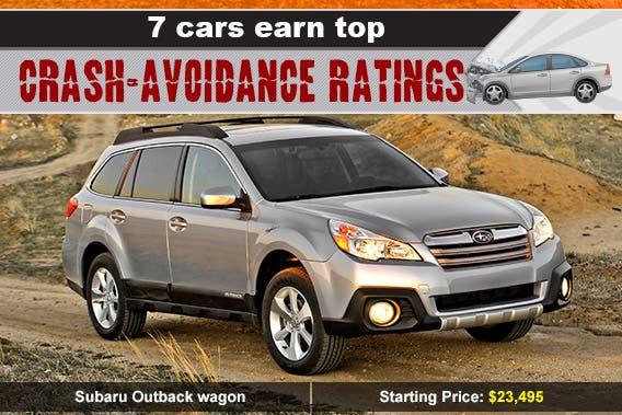 Subaru Outback wagon, car crash: © Skalapendra/Shutterstock.com