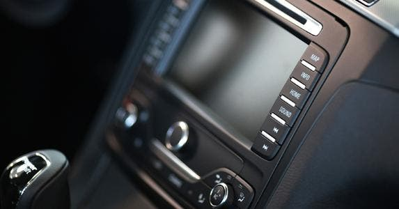 Center console of car